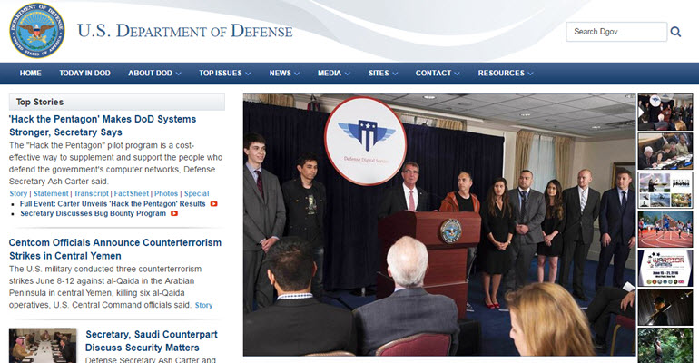 Hack the Pentagon program reveals bugs in the Pentagon system