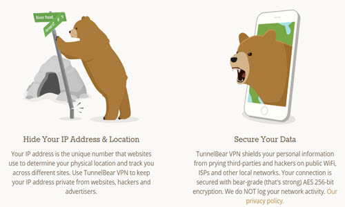 TunnelBear Feature