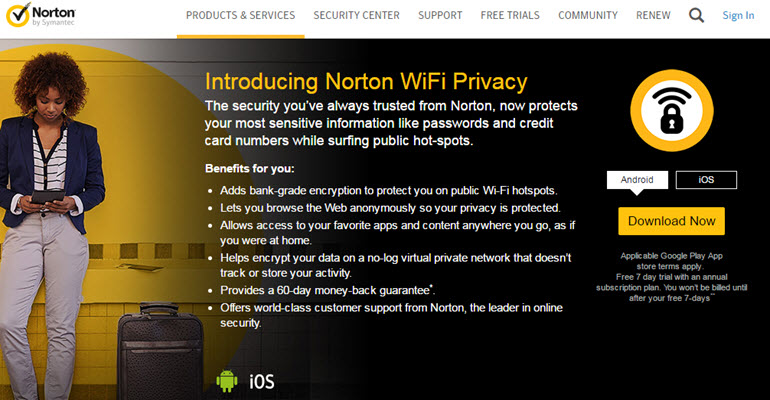 New Norton VPN is there to save you from public Wifi problems