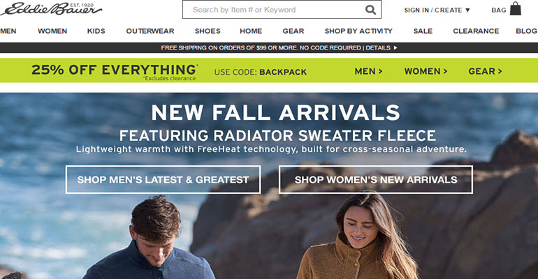 All Eddie Bauer Stores Infected by Malware in U.S, Canada