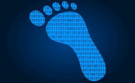 How is a digital footprint used to track you online