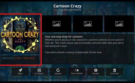 Cartoon Crazy Kodi addon: Is it legal and safe?