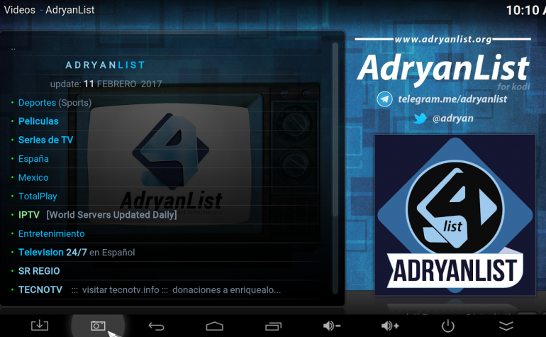 How to Install AdryanList Kodi Addon